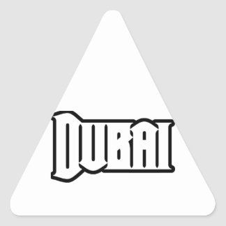 Rep Ya Hood  Custom Dubai, UAE Triangle Sticker