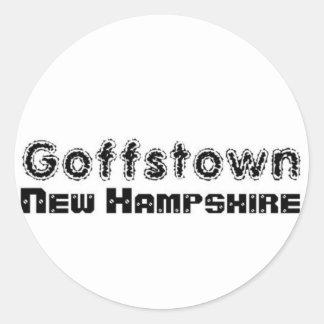 Rep Ya Hood Custom Goffstown, New Hampsire Round Sticker