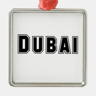 Rep Ya Hood Custom United Arab Emirates, Dubai Silver-Colored Square Decoration