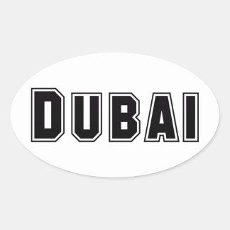 Rep Ya Hood Custom United Arab Emirates, Dubai Oval Sticker