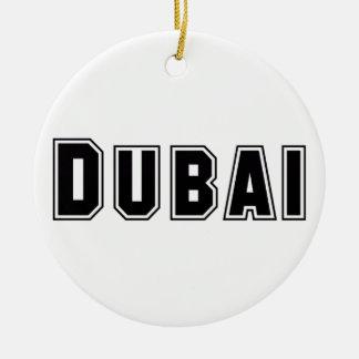 Rep Ya Hood Custom United Arab Emirates, Dubai Round Ceramic Decoration