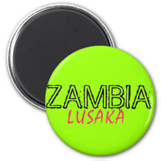 Rep Ya Hood Zambia Custom 6 Cm Round Magnet