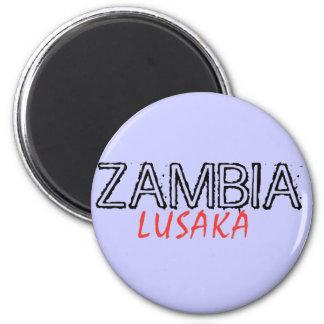 Rep Ya Hood Zambia Custom Magnet