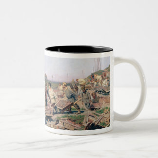 Repair Works on the Railway Line, 1874 Two-Tone Coffee Mug