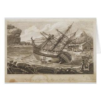Repairing of Captain Cooks ship Card