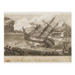Repairing of Captain Cooks ship Postcard