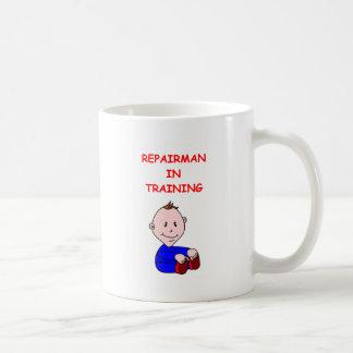 repairman basic white mug