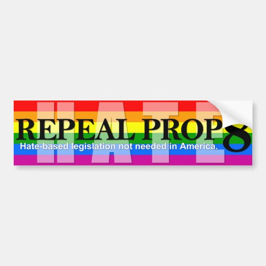 Repeal 8 - Rainbow Flag Bumper Sticker