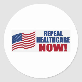 Repeal healthcare NOW! Sticker