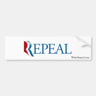 Repeal Obamacare with Romney Bumper Sticker