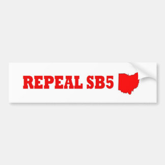 Repeal Ohio SB5 bumper sticker