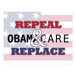 Repeal Replace Obamacare Postcard