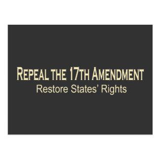 Repeal the 17th Amendment Postcard