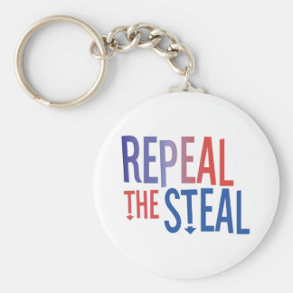 Repeal the Steal Basic Round Button Key Ring