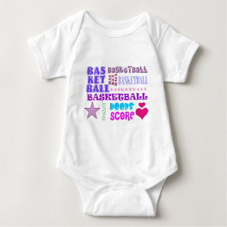 Repeating Basketball Baby Bodysuit
