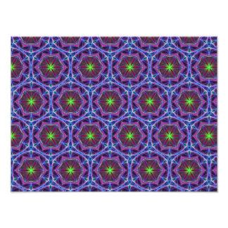 Repeating Blue flower kaleidoscope pattern Photo