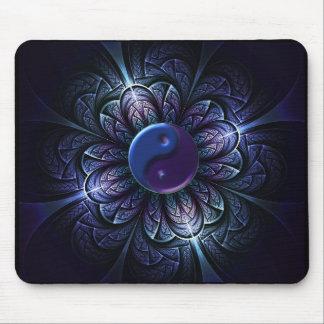 repeating fractal yin-yang mouse pad