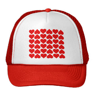 Repeating Hearts Hat