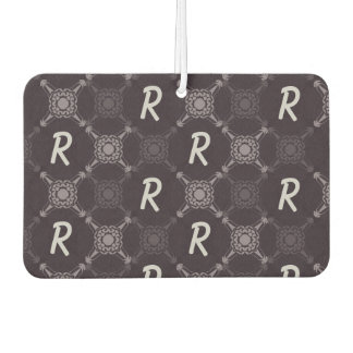 Repeating Letter Monogram Car Air Freshener