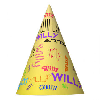 Repeating Name Collage Create Your Own Birthday Party Hat