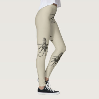 Repeating Octopus on Sand Leggings
