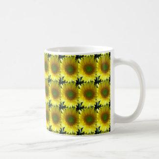 Repeating Sunflowers Coffee Mug