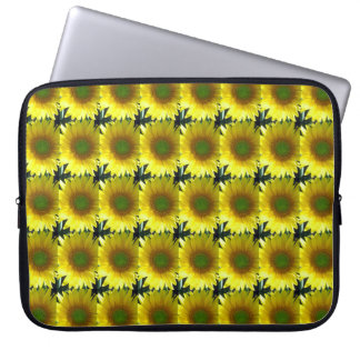 Repeating Sunflowers Laptop Computer Sleeve