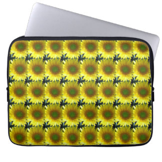 Repeating Sunflowers Laptop Computer Sleeves