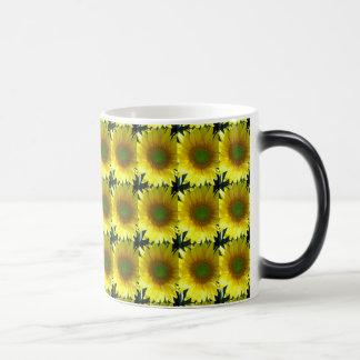 Repeating Sunflowers Magic Mug