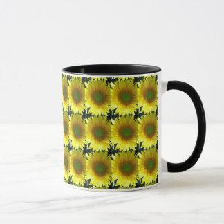 Repeating Sunflowers Mug
