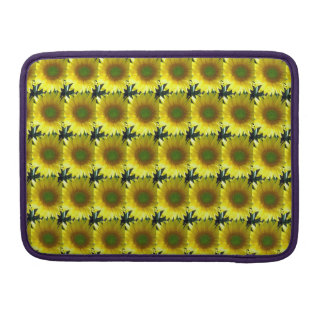 Repeating Sunflowers Sleeve For MacBooks