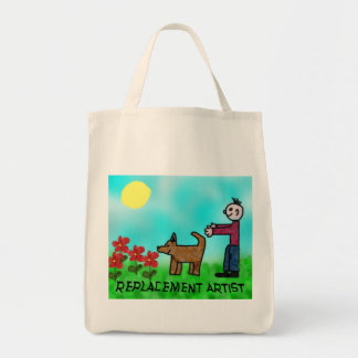 Replacement Artist Grocery Tote Bag