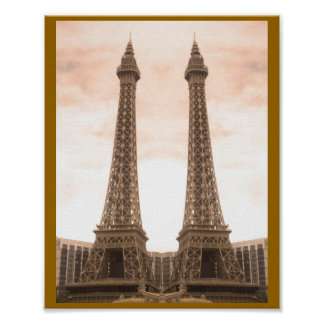 Replica EFFEL TOWER in Las Vegas, Nevada, USA Print