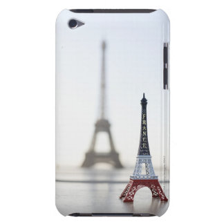 Replica of Eiffel Tower with original one in the Barely There iPod Case