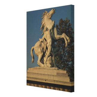 Replica of one of the two 'Marly Horses' originall Canvas Print