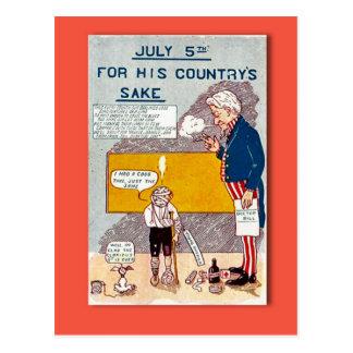 Replica Vintage 4th of July postcard