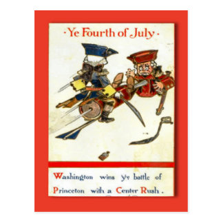 Replica Vintage 4th of July postcard Washington