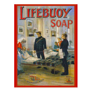 Replica Vintage advertising, Lifebouy soap, Postcard