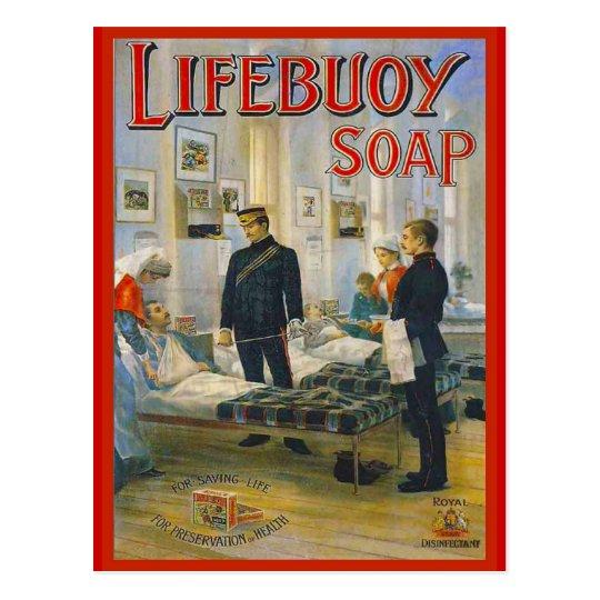 Replica Vintage advertising, Lifebouy soap, Postcard