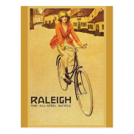 Replica Vintage advertising, Raleigh Bicycles Post Card