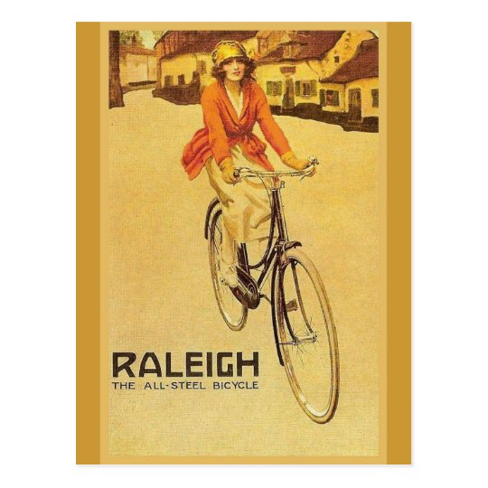 Replica Vintage advertising, Raleigh Bicycles Postcard