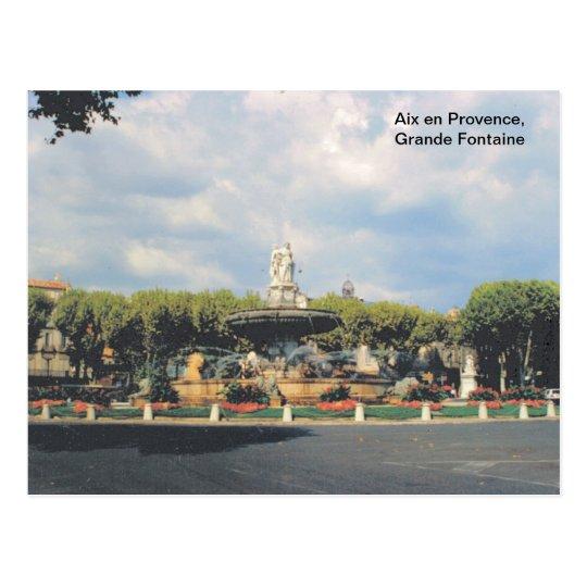 Replica vintage, Aix en Provence, Grande Fontaine Postcard