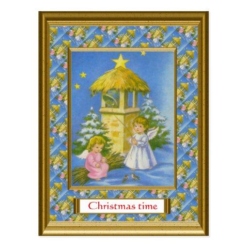 Replica vintage Christmas card, 1930s Postcards