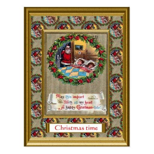 Replica vintage Christmas card, 1930s Post Card