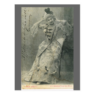 Replica Vintage France, French actress 1900 Postcard