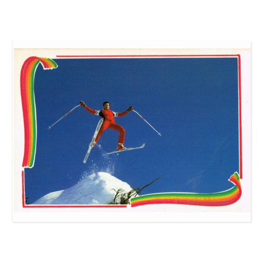Replica Vintage France Winter Sports, Ski Postcard