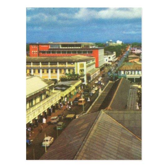 Replica Vintage Ghana, Accra, Town centre Postcard