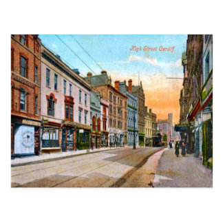 Replica Vintage Image, Cardiff, High Street Postcard