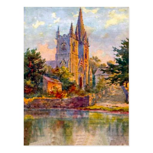 Replica Vintage Image, Cardiff, Llandaff Cathedral Post Cards