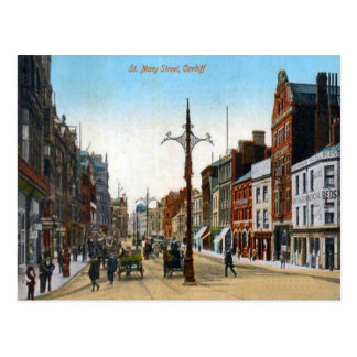 Replica Vintage Image, St Mary Street Post Card